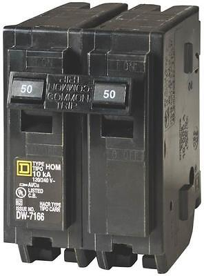 New Square D Hom250Cp Homeline 50 Amp Double Pole Circuit Breakers 6721369
