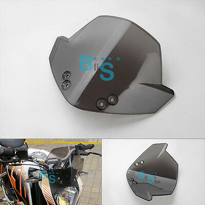 Smoked front Windscreen Windshield Fits For KTM Duke 125 200 390  O2