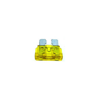 20A Standard Car Auto Blade Fuse 20 Amp Yellow ATO - Pack of 10