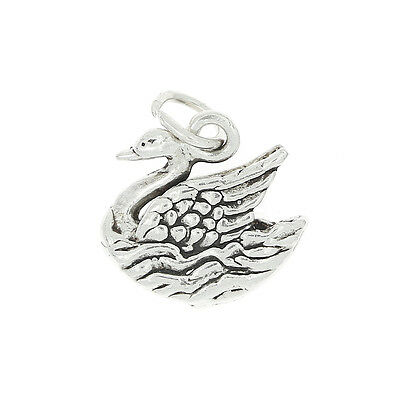 Sterling Silver Swan Charm Or Pendant