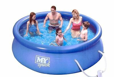 10Ft Quick Set Pool with Filter Pump Garden Paddling Swimming Summer