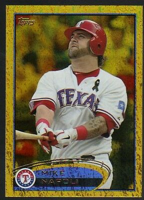 2012 Topps Series 1 Gold #37 Mike Napoli Rangers Golden Moments Foil Parallel