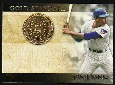 2012 Topps Series 1 Gold Standard GS 8 Ernie Banks Chicago Cubs