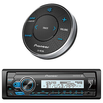 New JVC Marine Boat Motorcycle Bluetooth USB Stereo Pandora Radio W/Wired Remote