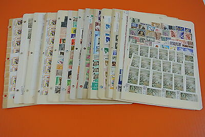 WORLD MINT POSTAGE STAMP ACCUMULATION LOTS OF MNH  (#2588)