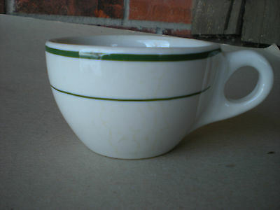 Buffalo Restaurant Ware Coffee Cup Green Bands USA