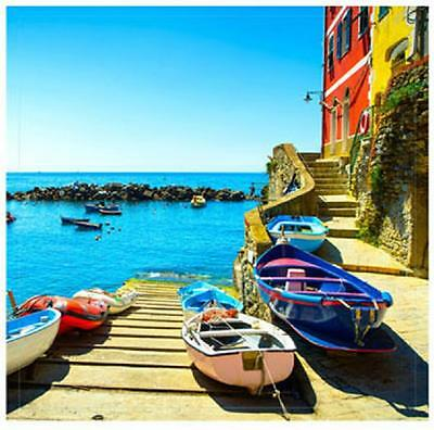 BOATS SEA OCEAN VIEW WATERPROOF PHOTO PICTURE PRINTED CANVAS BANNER 60CM X 60cm