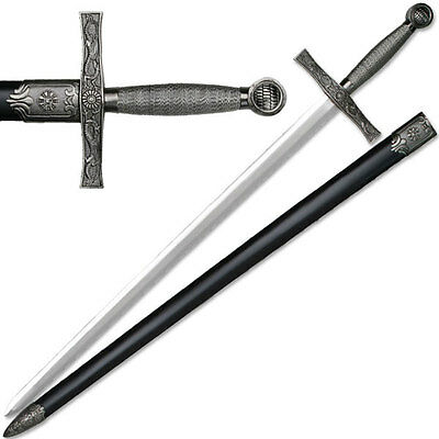 "NEW 39"" Heavy Medieval Great Sword Wire Wrapped Handle Long Sword"