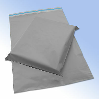 60 Mixed Grey Plastic Mailing Mail Post Postage Bags