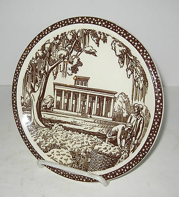 "Rockwell Kent ""Our America"" Southern Plantation Vernon Kilns Salad Plate 7 1/2"""