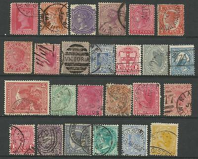 AUSTRALIAN COLONIES STATES Collection of 25 Different Stamps Used (Lot 8)