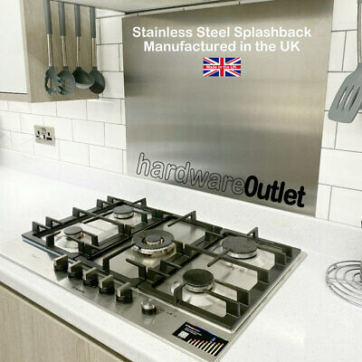 Economy Brushed Stainless Steel Kitchen Cooker Splashback 700 mm (70 cm) High