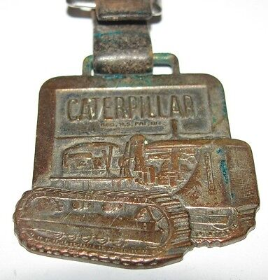 Caterpillar Crawler Tractor Dozer Leavens Pocket Watch Fob Ziegler Co Inc D7?