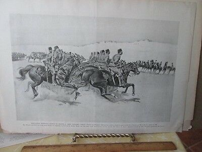 Vintage Print,ENGLISH FIGHT FORCE IN EGYPT,Fredrick Remington,Harpers,1890s