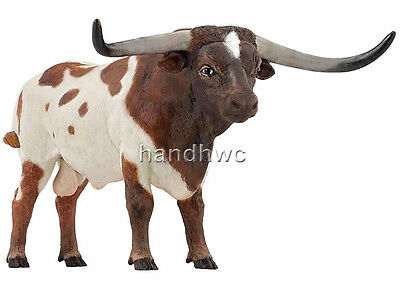 Papo 51156 Texas Longhorn Bull Animal Replica Model Toy Replica Cow - NIP