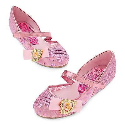 Disney Store Sleeping Beauty Princess Aurora Girls Shoes 7/8 9/10 11/12 13/1 2/3