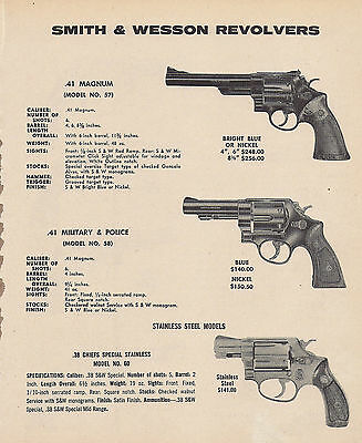 1977 Smith & Wesson Model 57, 58 Military & Police,60 Chiefs Special Revolver Ad