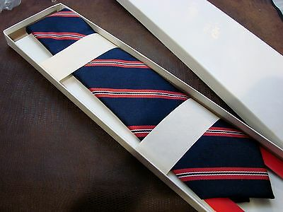Case Knife Neck Tie Vintage 1960's Sales Tie Red & Blue Mint In Box SOLD OUT! NR