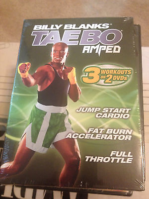 Billy Blanks - Tae Bo Amped - 2 Pack (DVD, 2008, 2-Disc Set) NEW