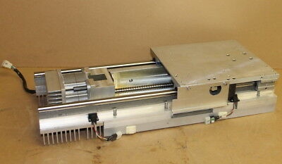 """Linear slide, Precision positioning stage, 11.5"""" travel, 7x8"""", Stepper w/driver"""