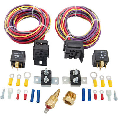 JEGS Performance Products 10571 Dual Fan Wiring Harness & Relay Kit