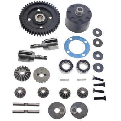 Mugen 1/8 MBX7R Eco * CENTER DIFFERENTIAL, 46T SPUR GEAR, BEVEL, CUPS & BEARINGS