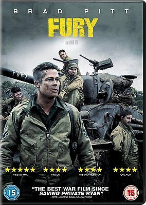 Fury  ( Brad Pitt )                 Brand New Sealed Uk Dvd