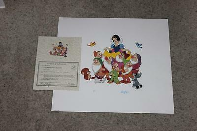 RARE NM DISNEY SNOW WHITE&THE 7DWARFS PRINTER'S PROOF ART PRINT BY BILL JUSTICE!