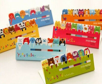Fashion Animal Flag Index Tab Sticky Post-It Bookmark Marker Memo Notes Sticker