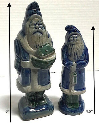 ~2~Rowe Pottery Works ~Salt Glazed~ *Santa Bearing Gifts*  RPW  *EXCELLENT*