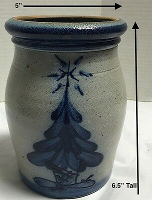 1991~Rowe Pottery~Salt Glazed *TREE Crock~RPW