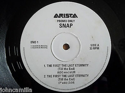 """SNAP! - THE FIRST THE LAST ETERNITY 12"""" RECORD / VINYL - ARISTA - END 1"""