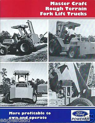 Fork Lift Truck Brochure - Master Craft - Rough Terrain - Ford - c1991 (LT175)