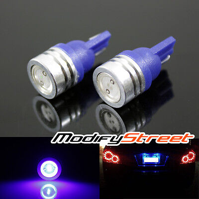 2PC 194/168/T10/147/152 HIGH POWER 1W BLUE SMD LED DOME/MAP/WEDGE/ASH TRAY LIGHT