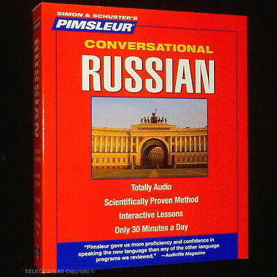 New Pimsleur 8 CD Learn to speak Russian Language NIB (16 Lessons + FREE CD CASE
