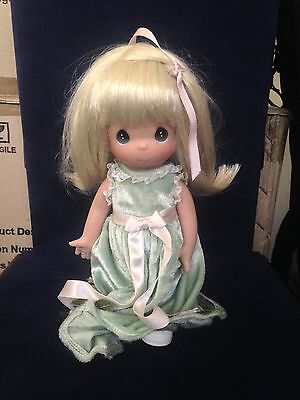 "Precious Moments You Are Lucky In Green Dress 9"" Doll"
