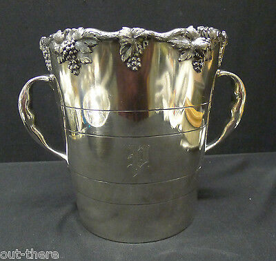 SILVERPLATE CHAMPAGNE BUCKET--ROGERS SMITH & CO.--GRAPES--MONO--BUY IT NOW!