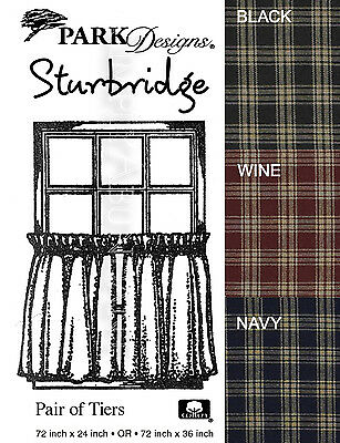 Sturbridge Tiers by Park Designs, 72x24 or 72x36 Pair, Your Choice of 5 Colors