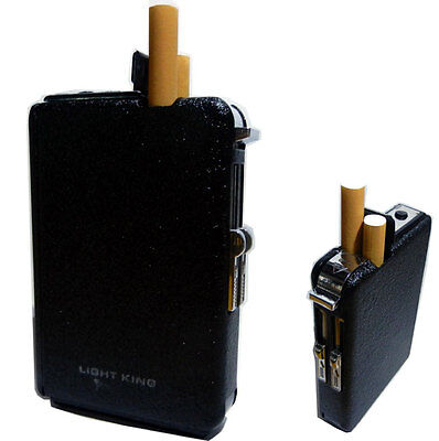New 2in1 Automatic Ejection Butane Lighter Cigarette Case