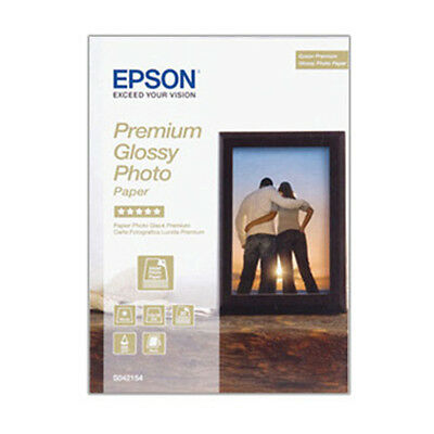30 Sheets Epson Premium 13x18cm 7x5 Glossy Photo Inkjet Paper 255gsm S042154