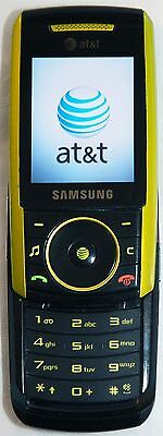 Samsung SGH-A737 Lime Green AT&T Cell Phone GSM Slider Bluetooth 1.3MP Camera -C