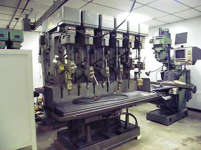 """Allen MAV 6-Spindle Drill Press, 2 MT, 2 HP, 24"""" Swing, Coolant System"""