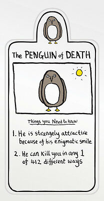 Edward Monkton Magnetic Bookmark - The Penguin of Death