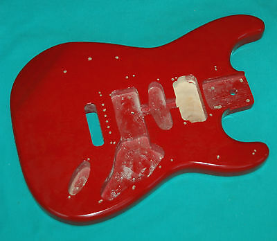 Vintage Silvertone Strat Style Electric Guitar Original Red Body Project