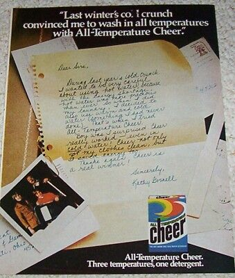 1978 vintage ad - CHEER Laundry soap KATHY GOSNELL detergent 1-PG AD