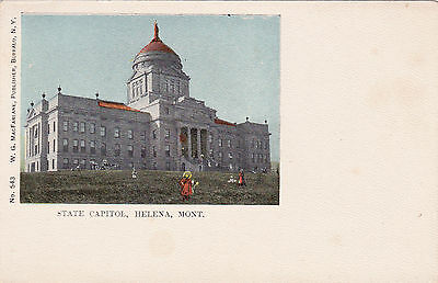 Montana Helena State Capitol Building Copper Dome Statue 1900s Vintage Postcard