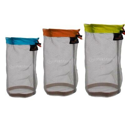 Tavel Camping Sports Ultralight Mesh Stuff Sack Drawstring Bag - Assorted Size