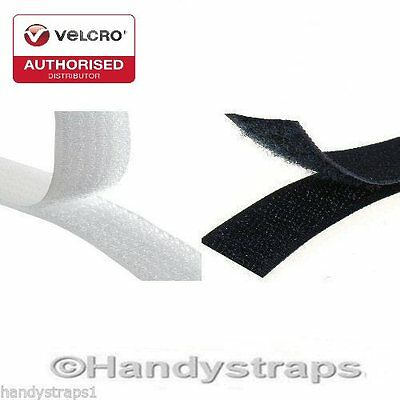 VELCRO® Brand 25mm Sew on Tape Black or White Hook & Loop