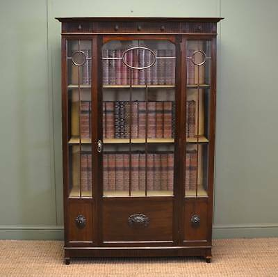 Fine Quality Edwardian Walnut Antique Display Cabinet