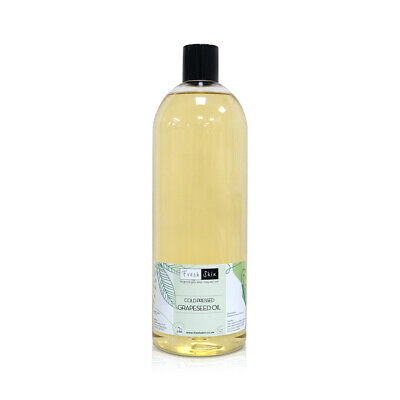 1 Litre Grapeseed Pure Cold Pressed Carrier Oil - 100% Pure (1000ml)